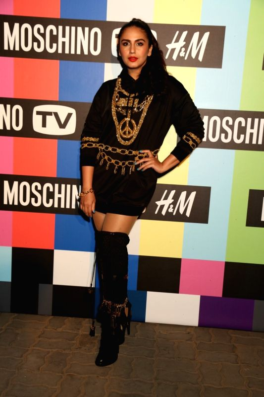 Actress Huma Qureshi at the H&M and Moschino TV launch in New Delhi on Nov 1, 2018.