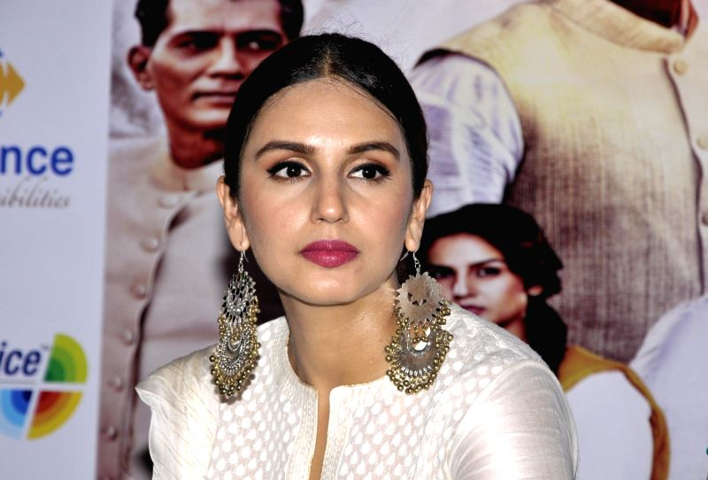"Actress Huma Qureshi during a press conference to promote their upcoming film ""Partition 1947"" in Amritsar on Aug 12, 2017. - Huma Qureshi"