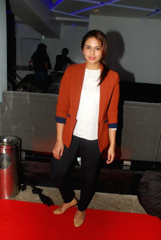 Actress Huma Qureshi during the screening of film Finding Fanny in Mumbai on 3rd September 2014 - Huma Qureshi