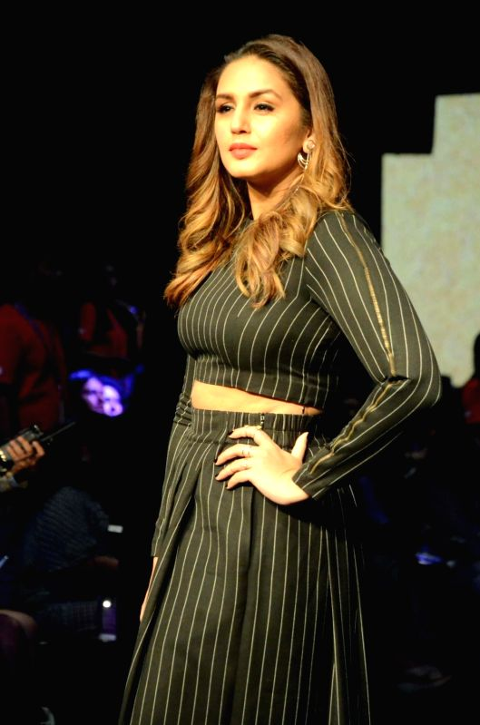 Actress Huma Qureshi walks the ramp for Two.Two Studio during the Lakme Fashion Week Summer/Resort 2018 in Mumbai on Jan 31, 2018. - Huma Qureshi