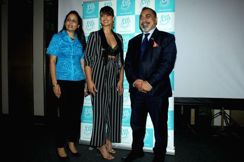 """Actress Ileana D'Cruz announced the brand ambassador of """"Bula Tourism Fiji"""" in Mumbai on Aug 6, 2018. - Ileana D'Cruz"""