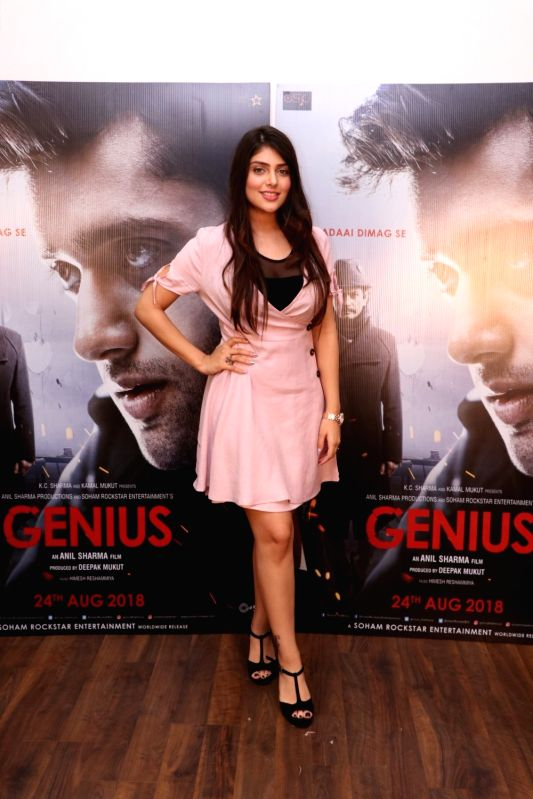 "Actress Ishita Chauhan during the promotion of her upcoming film ""Genius"" in Mumbai on Aug 10, 2018. - Ishita Chauhan"