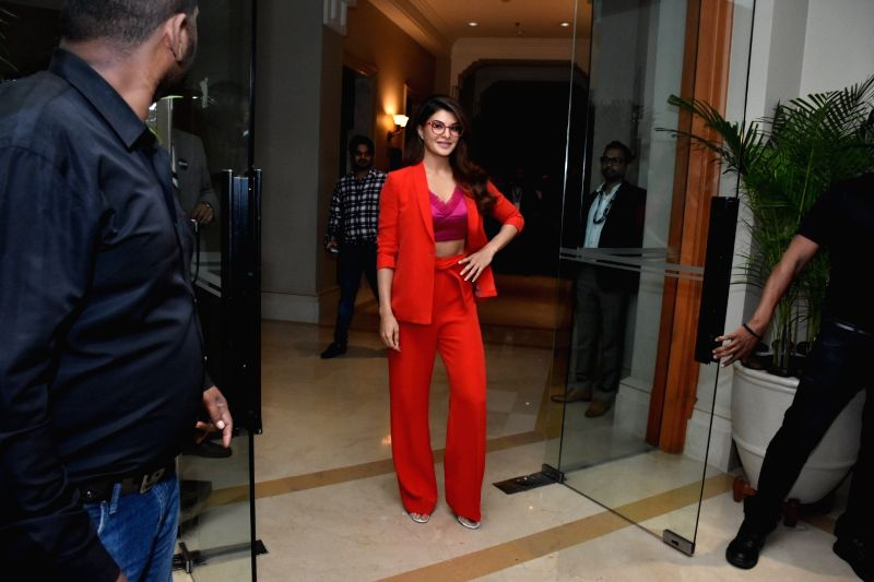 Actress Jacqueline Fernandez during a promotional programme, in Mumbai on June 9, 2018. - Jacqueline Fernandez