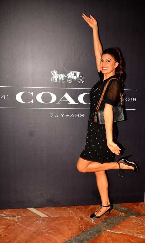 Actress Jacqueline Fernandez during the Coach launch celebrations in Mumbai, on Aug 4, 2016. Coach celebrates the launch of its first store in India. - Jacqueline Fernandez