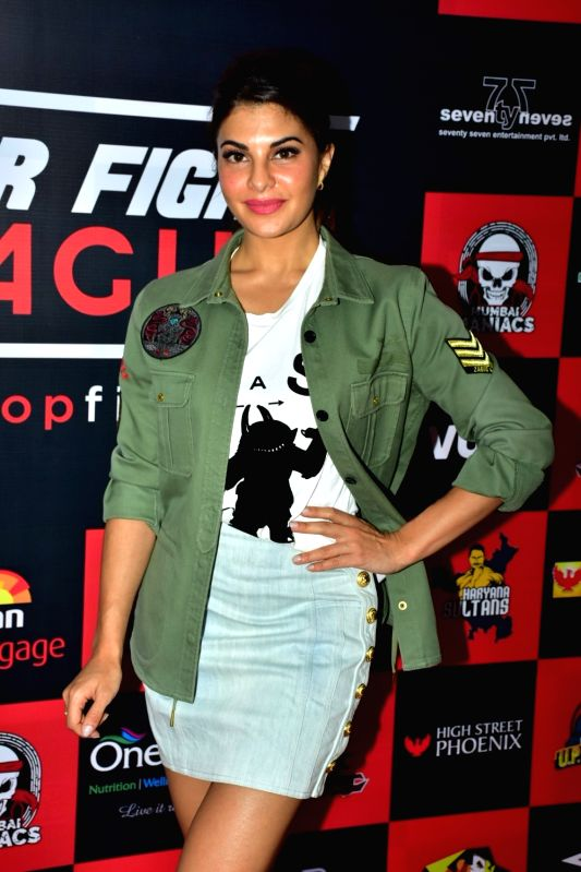 Actress Jacqueline Fernandez during the launch of MTV Super Fight League 2018 in Mumbai on March 3, 2018. - Jacqueline Fernandez