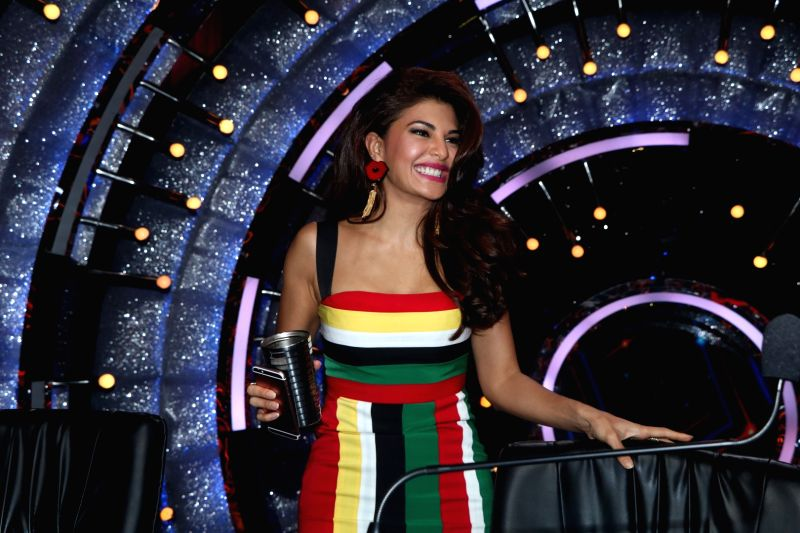 Actress Jacqueline Fernandez during the promotion of film A Flying Jatt on the sets of reality dance show Jhalak Dikhhla Jaa season 9 in Mumbai on Aug 2, 2016. - Jacqueline Fernandez