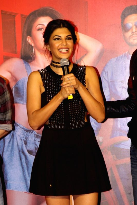 Actress Jacqueline Fernandez during the song launch of Taang Uthake from upcoming film Housefull 3, in Mumbai, on May 6, 2016. - Jacqueline Fernandez