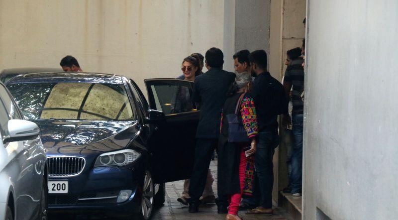 Actress Jacqueline Fernandez seen at Khar in Mumbai on Jan 31, 2018. - Jacqueline Fernandez