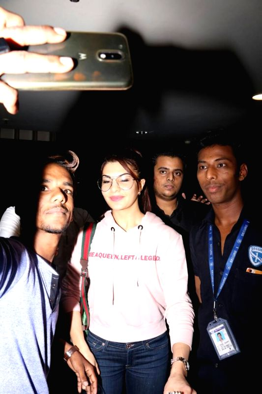 Actress Jacqueline Fernandez spotted at Airport in Mumbai on June 7, 2017. - Jacqueline Fernandez