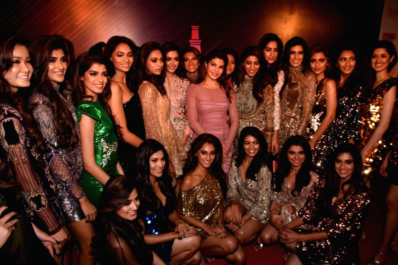 Actress Jacqueline Fernandez unveils the winners of fbb Colors Femina Miss India 2018 in Mumbai on June 10, 2018. - Jacqueline Fernandez