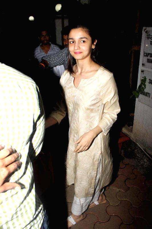 Actress JAlia Bhatt spotted at Airport in Mumbai on June 8, 2017. - J