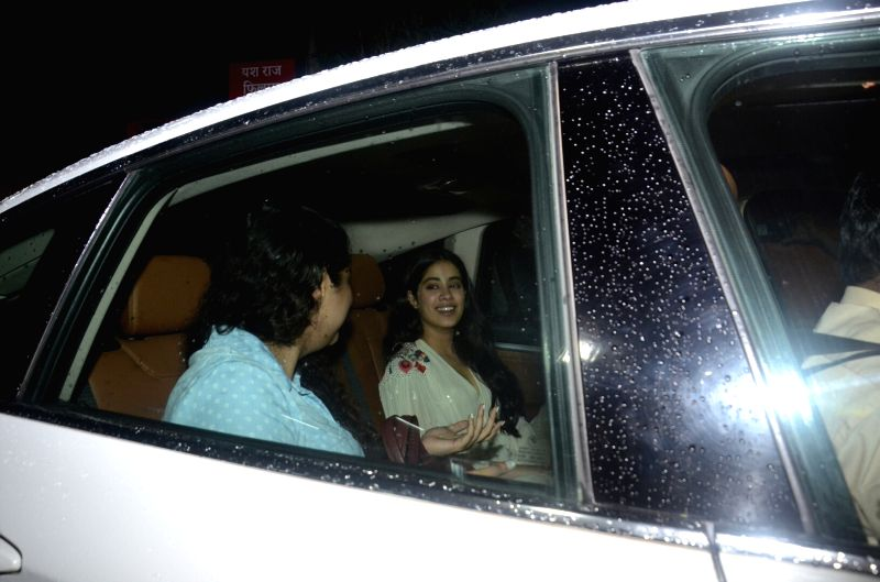 "Actress Janhvi Kapoor at the special screening of upcoming film ""Dhadak"" in Mumbai on July 18, 2018. - Janhvi Kapoor"