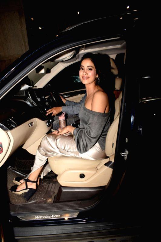 "Actress Janhvi Kapoor at the special screening of film ""Dhadak"" in Mumbai on July 19, 2018. - Janhvi Kapoor"
