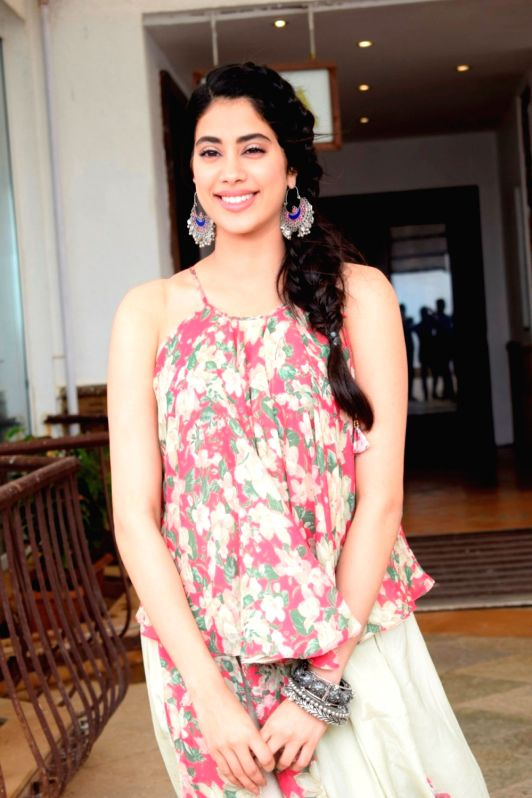 "Actress Janhvi Kapoor during the media interaction of her upcoming film ""Dhadak"" in Mumbai on July 12, 2018. - Janhvi Kapoor"