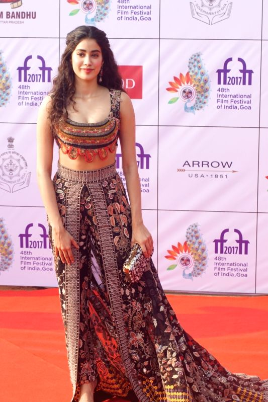 Actress Janhvi Kapoor during the opening ceremony of 48th edition of International Film Festival of India (IFFI) - 2017 in Goa on Nov 20, 2017. - Janhvi Kapoor