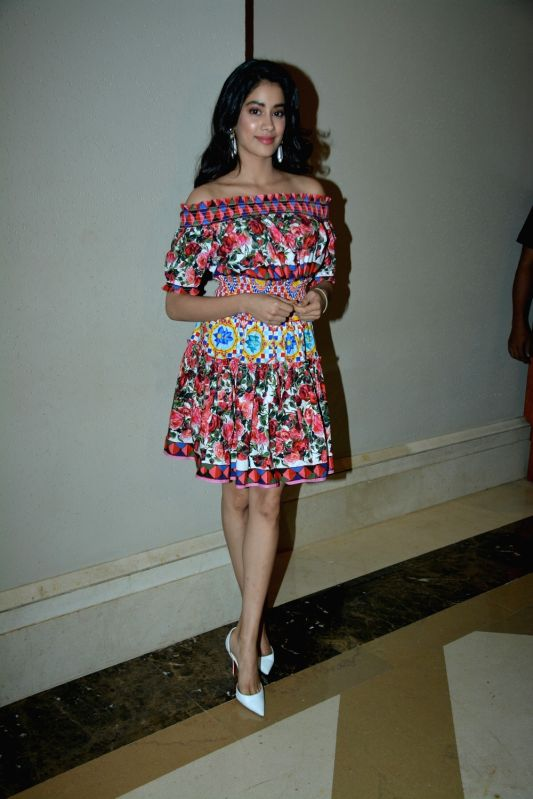 "Actress Janhvi Kapoor during the success meet of her film ""Dhadak"" in Mumbai on July 26, 2018. - Janhvi Kapoor"