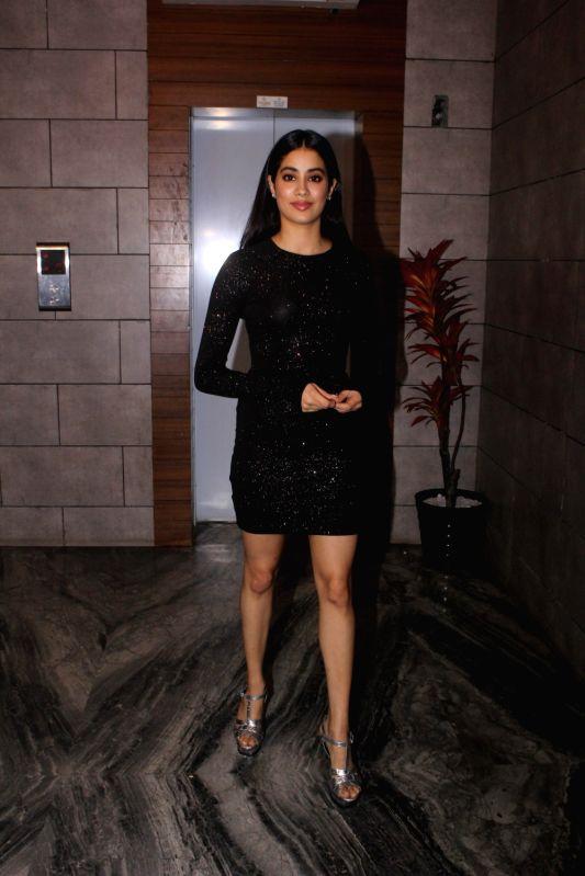 "Actress Janhvi Kapoor during the success party of her film ""Dhadak"" in Mumbai on Aug 9, 2018. - Janhvi Kapoor"