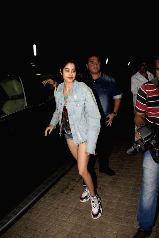 Actress Janhvi Kapoor seen at a cinema theatre in Juhu, Mumbai on July 29, 2018. - Janhvi Kapoor