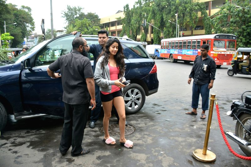 Actress Janhvi Kapoor seen at Mumbai's Bandra,  on July 22, 2018. - Janhvi Kapoor