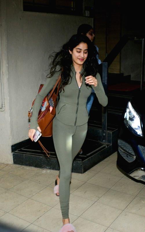 Actress Janhvi Kapoor seen at Mumbai's Bandra on July 30, 2018. - Janhvi Kapoor