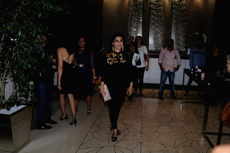 Actress Juhi Chawla during the party orgnised by Tanishaa Mukerji on behalf of her Charitable Initiative NGO STAMP in Mumbai on July 23, 2016 - Juhi Chawla