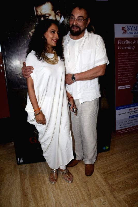 "Actress Kabir Bedi along with his wife Parveen Dusanj at the special screening of film ""Saheb Biwi Aur Gangster 3"" in Mumbai on July 26, 2018. - Kabir Bedi"