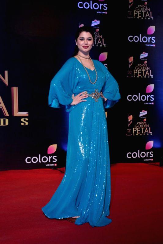 Actress Kainaat Arora during the 5th Colors Golden Petal Awards in Mumbai on April 12, 2017. - Kainaat Arora