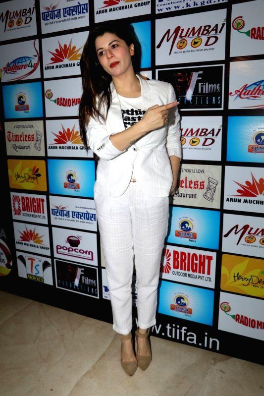 Actress Kainaat Arora during the announcement of The Indian Icon Film Award (TIIFA) in Mumbai, on Aug. 8, 2016. - Kainaat Arora