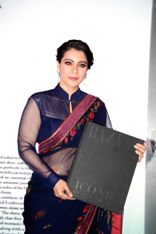 Actress Kajol during the launched of 'The Iconic Book' in Delhi on May 8, 2017. - Kajol