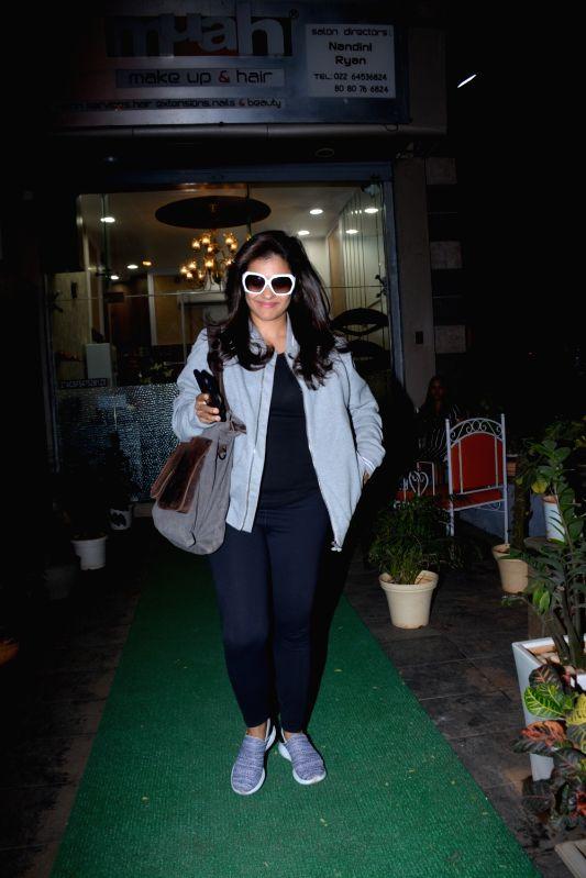 Actress Kajol spotted at Muah Salon in Bandra in Mumbai on Feb 9, 2019. - Kajol