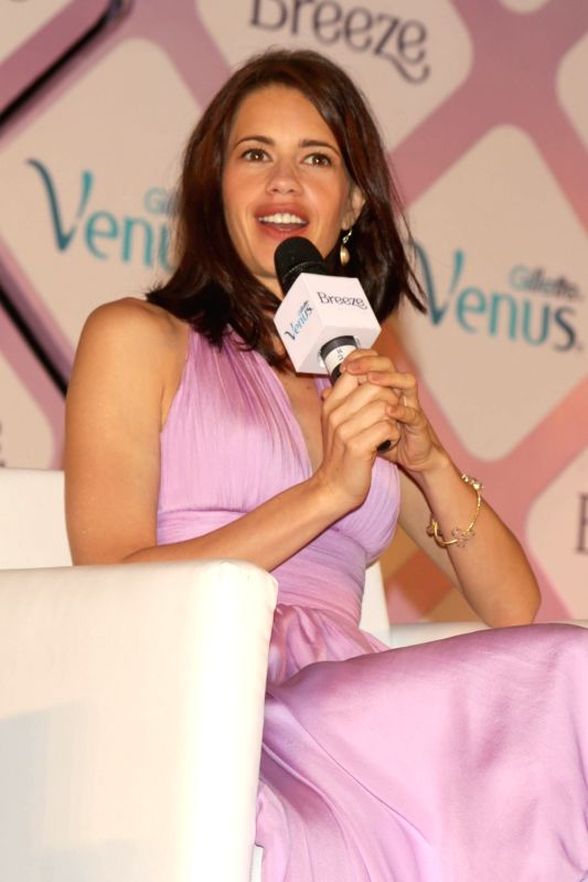 Actress Kalki Koechlin during a programme organised to promote a cosmetic product in New Delhi, on May 18, 2017. - Kalki Koechlin