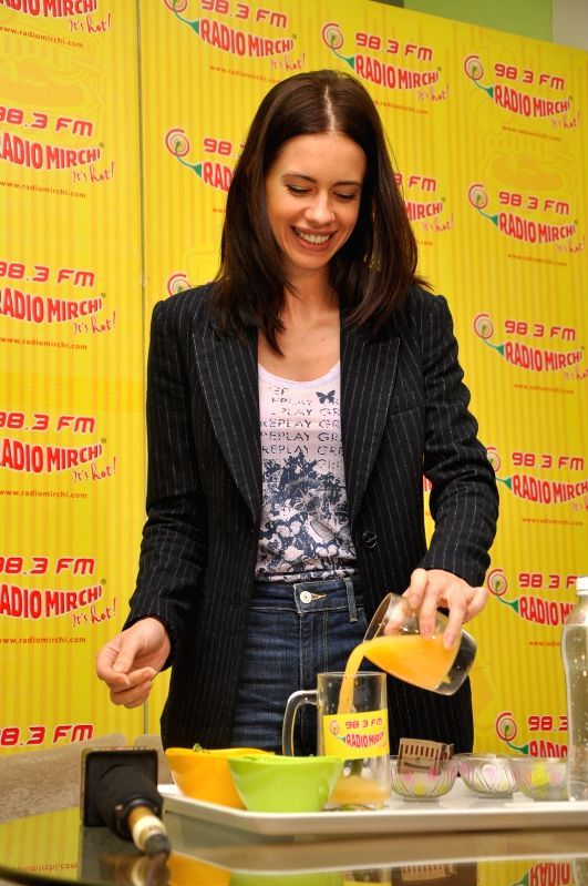 Actress Kalki Koechlin during the promotion of upcoming film Margarita With A Straw at Red FM studio in Mumbai on March 30, 2015.