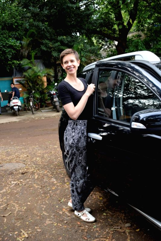 Actress Kalki Koechlin seen at Mumbai's Versova on Aug 10, 2018. - Kalki Koechlin