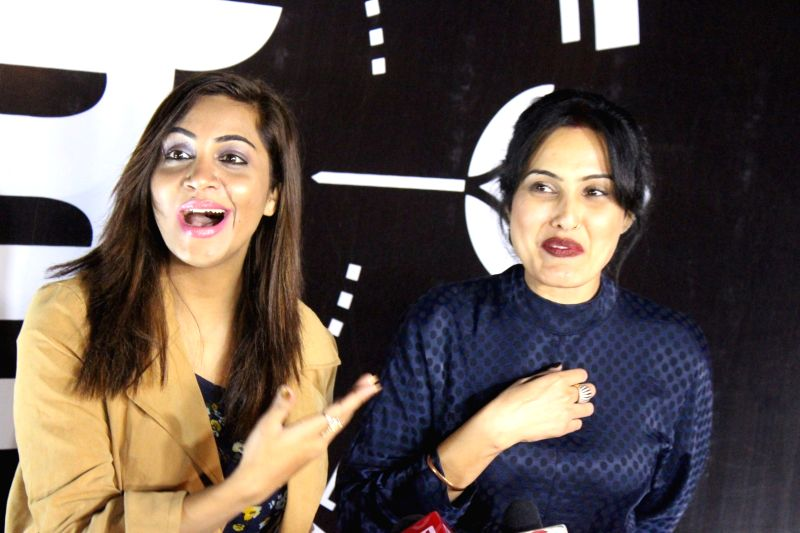 Actress Kamya Panjabi and Bigg Boss 11 Contestant Arshi Khan during a programme in Mumbai on Feb 1, 2018. - Kamya Panjabi and Arshi Khan