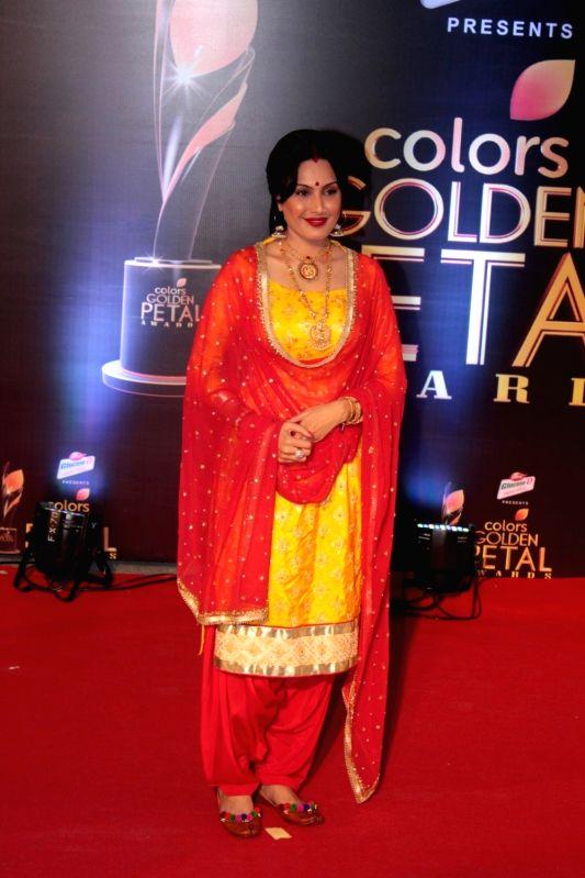 Actress Kamya Panjabi during the 5th Colors Golden Petal Awards in Mumbai on April 12, 2017. - Kamya Panjabi