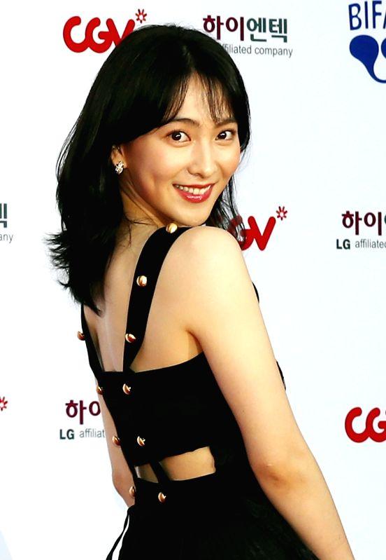 Actress Kang Ji-young attends the opening ceremony of the Bucheon International Fantastic Film Festival (BIFAN) at Bucheon City Hall in Bucheon, Gyeonggi Province, on July 12, 2018. - Kang J