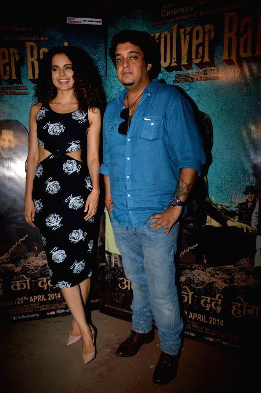 Actress Kangana Ranaut and filmmaker Sai Kabir Shrivastav during the interaction with media to promotes upcoming film Revolver Rani in Mumbai on 22nd April 2014. - Kangana Ranaut
