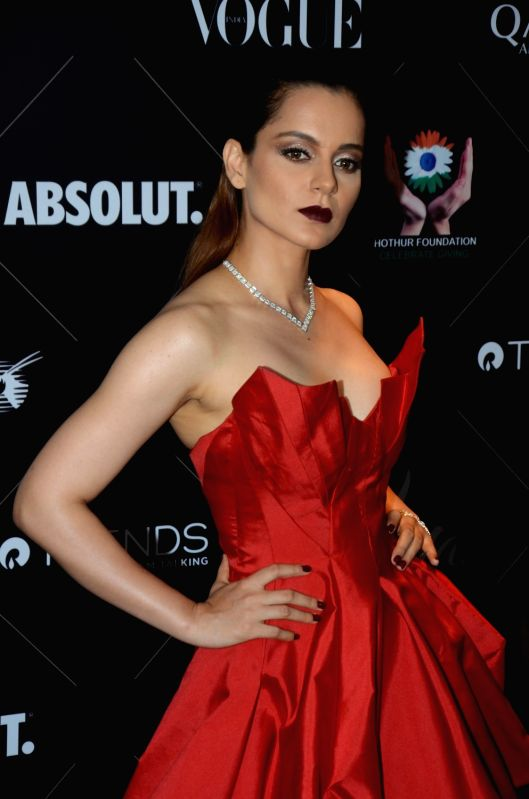 "Actress Kangana Ranaut at the red carpet of ""Vogue Beauty Awards"" in Mumbai on July 31, 2018. - Kangana Ranaut"