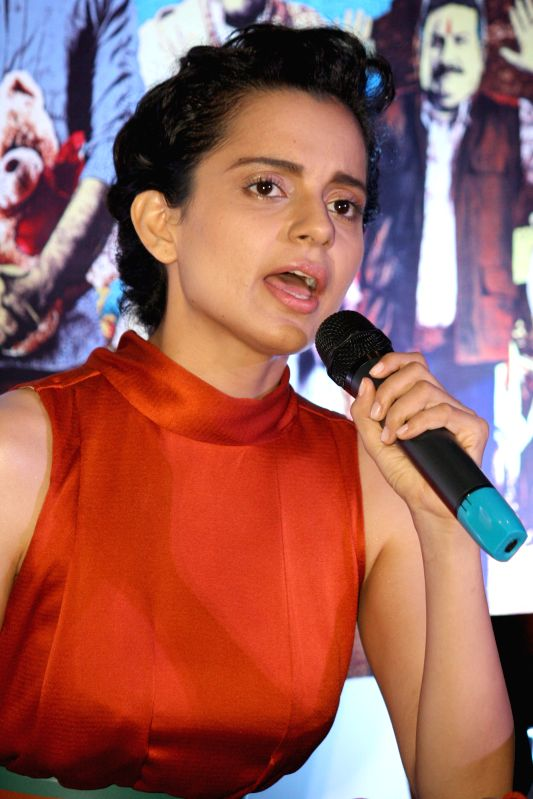Actress Kangana Ranaut during a press conference to promote her upcoming film 'Revolver Rani' in Noida on April 18, 2014. - Kangana Ranaut