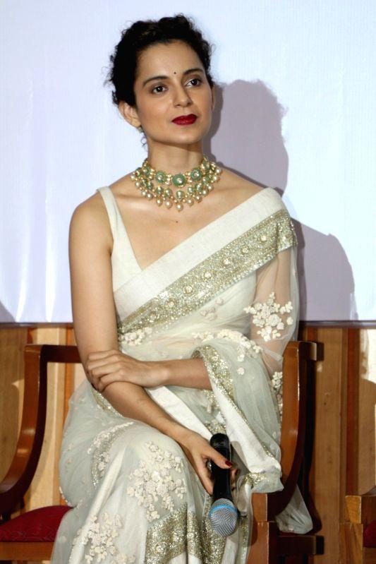 Actress Kangana Ranaut during the promotion of Swachh Bharat campaign in Mumbai on Aug 10, 2016. - Kangana Ranaut