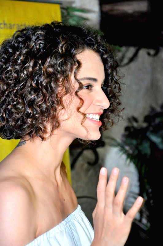 Actress Kangana Ranaut during the screening of Kannada film Thithi, in Mumbai, on May 30, 2016. - Kangana Ranaut