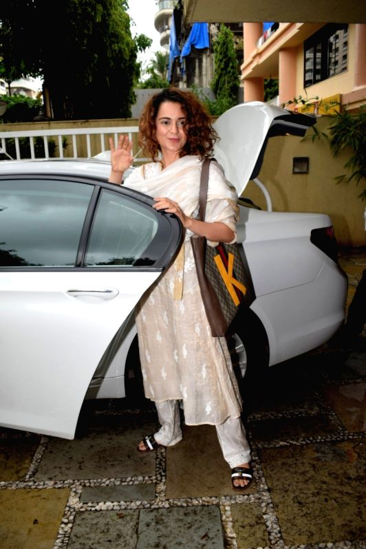 Actress Kangana Ranaut seen at Mumbai's Juhu on July 17, 2018. - Kangana Ranaut