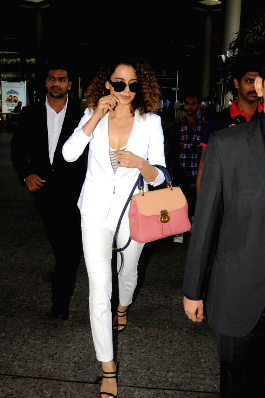 Actress Kangana Ranaut spotted at Airport in Mumbai on June 9, 2017. - Kangana Ranaut