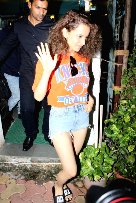 Actress Kangana Ranaut spotted at bblunt salon in Mumbai on June 13, 2017. - Kangana Ranaut