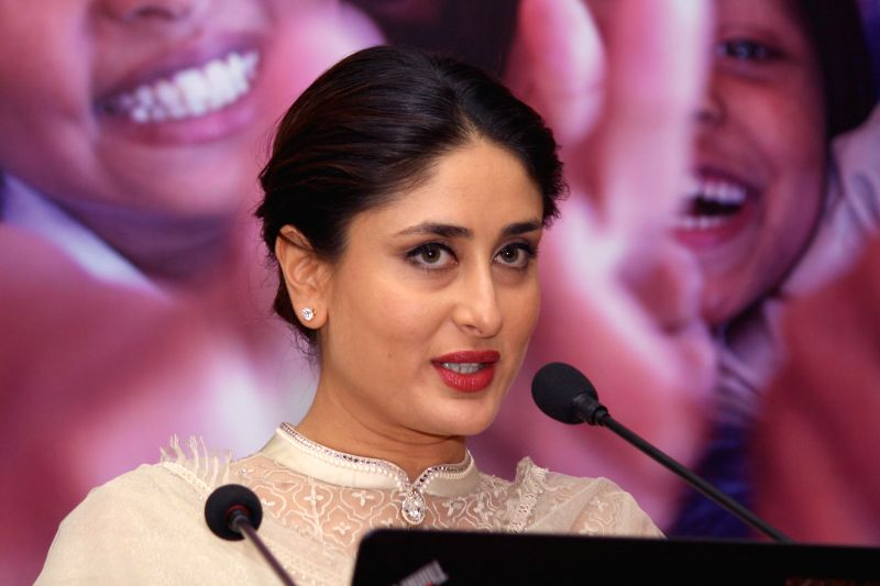 Actress Kareena Kapoor addresses at the launch of Child-friendly school systems in New Delhi on Sept 4, 2014. - Kareena Kapoor