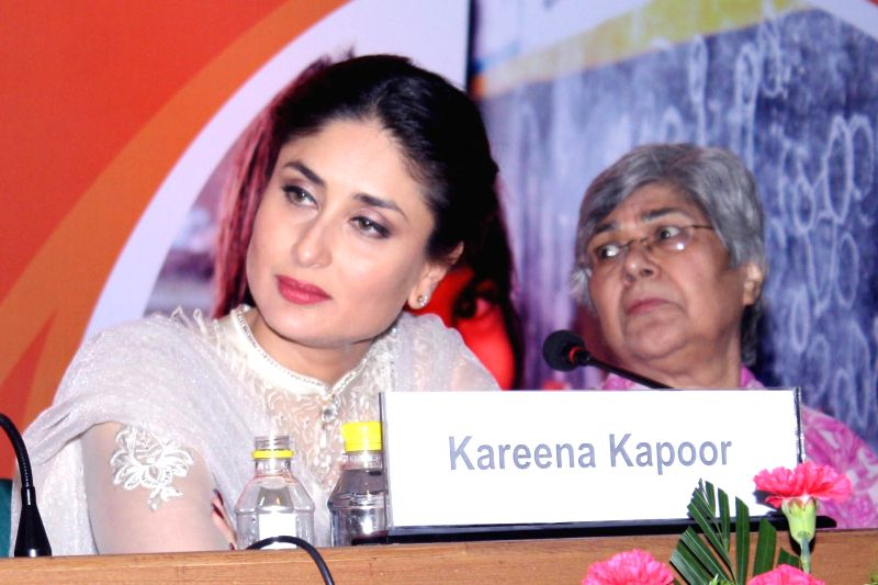 Actress Kareena Kapoor at the launch of Child-friendly school systems in New Delhi on Sept 4, 2014. - Kareena Kapoor