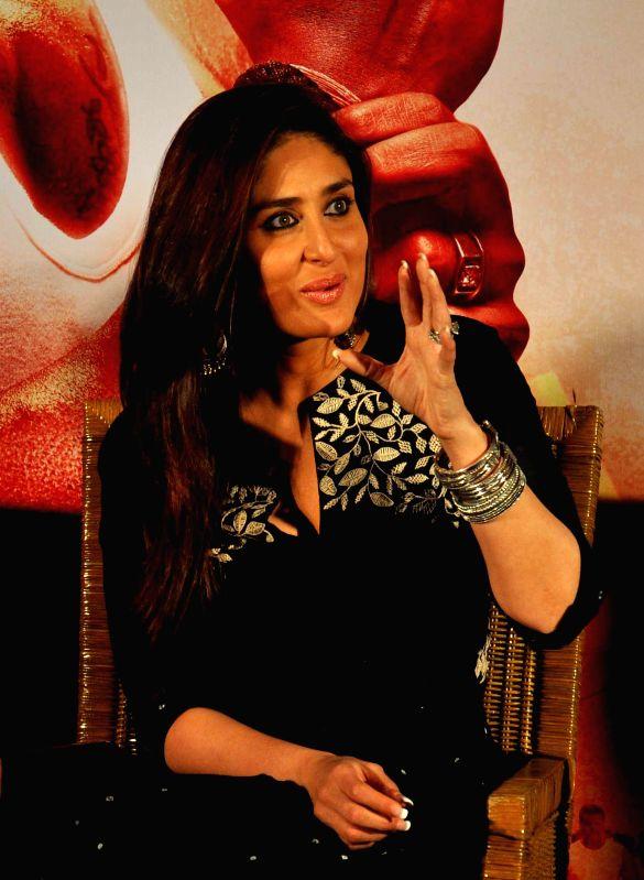 Actress Kareena Kapoor during a press conference to promote her upcoming film `Singham Returns` in Kolkata on Aug 10, 2014. - Kareena Kapoor