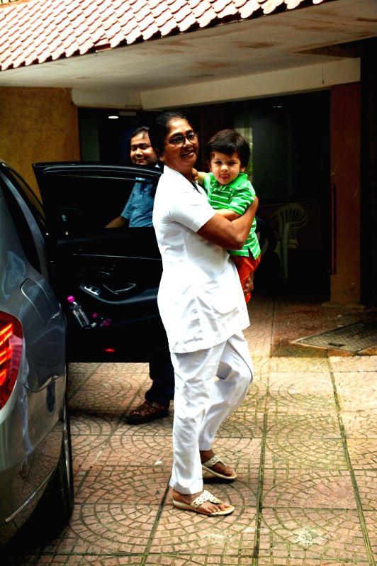 Actress Kareena Kapoor Khan's son Taimur seen at Mumbai's Bandra on July 19, 2018. - Kareena Kapoor Khan