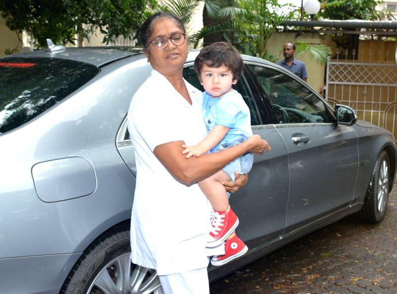 Actress Kareena Kapoor Khan's son Taimur seen at Mumbai's Bandra on Aug 9, 2018. - Kareena Kapoor Khan