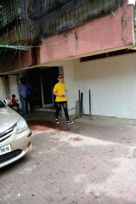 Actress Kareena Kapoor seen at a Mumbai gym on Aug 1, 2018. - Kareena Kapoor